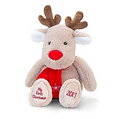 Keel - 27cm my first Christmas reindeer 2017 soft toy