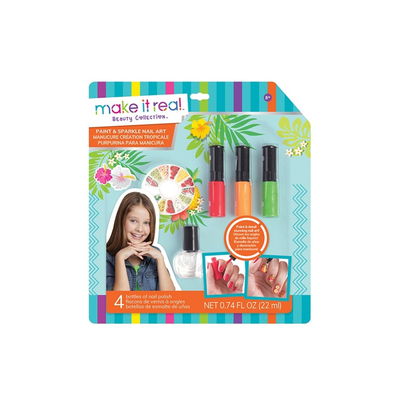 Make It Real - \'Paint And Sparkle - Graphic Jungle\' Nail Art Set ...
