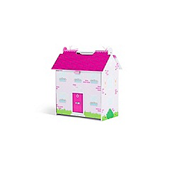 Plum - Pink wooden dolls house
