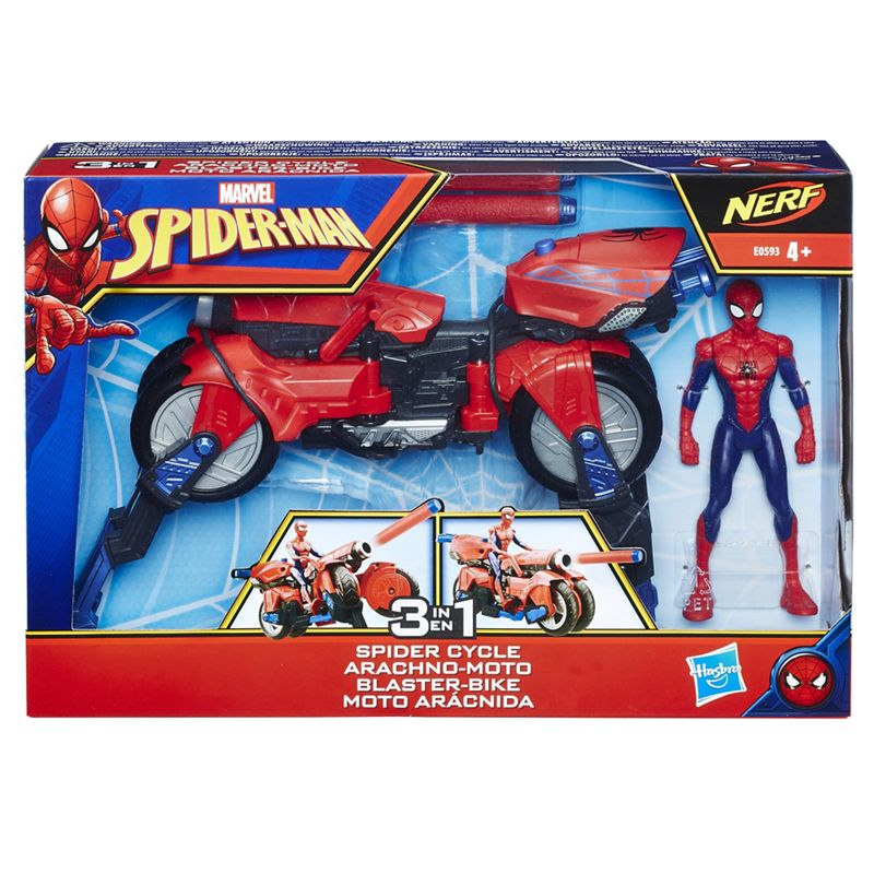 '3-in-1 Spider Cycle with Spider-Man' figure set