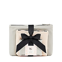 Luxe Edit - Set of three pink and grey cosmetic bags