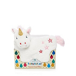 Snuggle Me - White Unicorn Pyjama Case Pillow