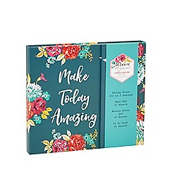 At home with Ashley Thomas - Floral print 'Make Today Amazing' weekly organiser