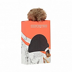 Sound Boutique - Black headphone pom pom hat