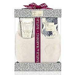 Baylis & Harding - Royal Bouquet Grey Slipper Set