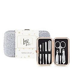 Luxe Edit - Silver glitter manicure set