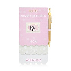 Luxe Edit - 'Things To Remember' scalloped magnetic notepad and pen set