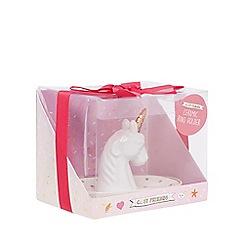 Cosy Friends - White unicorn ring holder