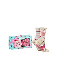Cosy Friends - Pack of two 'Donut' socks