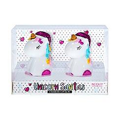 Mad Beauty - Unicorn santa strawberry lip balm duo
