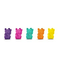 Mustard - Lucky Cat Erasers