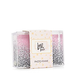 Luxe Edit - Clear box glitter photo frame