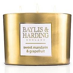Baylis & Harding - Sweet Mandarin Gold 3 Wick Candle