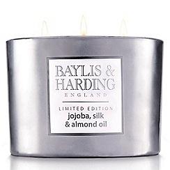 Baylis & Harding - Silver Jojaoba 3 Wick Candle