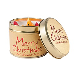 Lily Flame - Merry Christmas Candle Tin - 245g