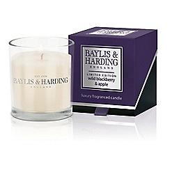 Baylis & Harding - Wild Blackberry Single Candle Boxed