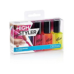 Mustard - Nail varnish shaped highlighters - Assorted