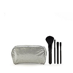 Academy of Colour - Silver make up bag and brushes