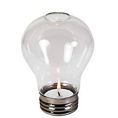 Debenhams - Lightbulb tealight holder