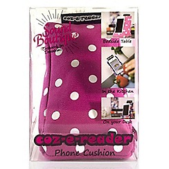 coz-e-reader - Cushion stand for phones - Pink Spot