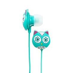 Skinny Dip - Turquoise owl earphones