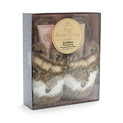 Aroma Home - Faux fur fox slippers