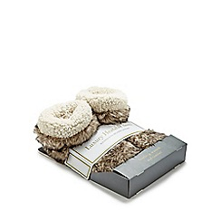 Intelex - Faux fur grey heatable slipper boots
