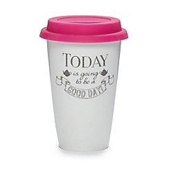 Rose & Butler - White travel mug