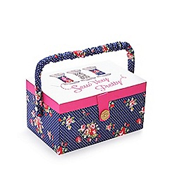 Debenhams - Navy floral sewing box