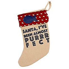 Debenhams - Cat Christmas Pet Stocking