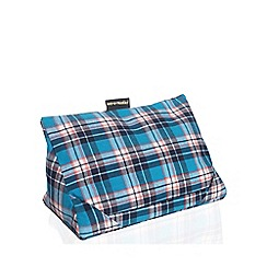 coz-e-reader - Cushion stand blue check
