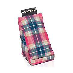 coz-e-reader - Cushion stand pink check