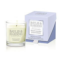 Baylis & Harding - French Riviera - French Lavender & Vanilla Bean Single Wick Candle