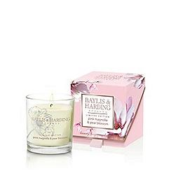 Baylis & Harding - Pink Magnolia & Pear Blossom Single Wick Candle