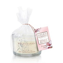 Baylis & Harding - Pink Magnolia & Pear Blossom Triple Wick Candle