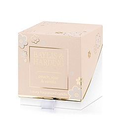 Baylis & Harding - Peach, Rose & Vanilla Single Wick Candle