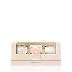 Baylis & Harding - Peach, Rose & Vanilla 3 Candle Set