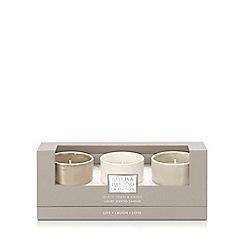Baylis & Harding - La Maison White Linen & Cassis 3 Candle Set