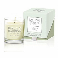Baylis & Harding - Mediteranean Sea - Sea Breeze & Cotton Single Wick Candle