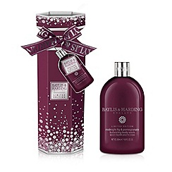 Baylis & Harding - Midnight Fig and Pomegranate Body Wash Cracker