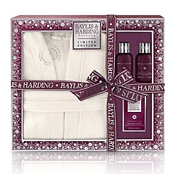Baylis & Harding - Midnight Fig and Pomegranate Luxury Dressing Gown Set