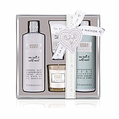 Baylis & Harding - La Maison Sea Salt and Wild Mint Luxury Candle Gift Set