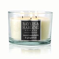 Baylis & Harding - Sweet Mandarin and Grapefruit Triple Wick Candle
