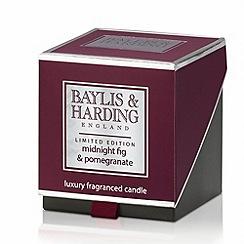 Baylis & Harding - Midnight Fig and Pomegranate Luxury Scented Candle