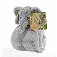 Snuggle Me - Elephant plush toy with blanket