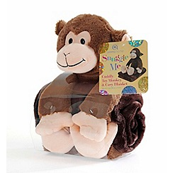 Snuggle Me - Monkey plush toy with blanket