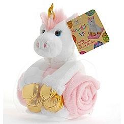 Snuggle Me - Unicorn plush toy with blanket