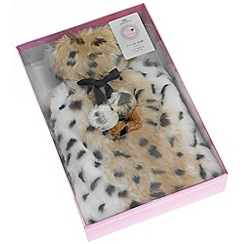 Debenhams - Leopard fur hot water bottle