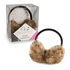 Debenhams - Brown audio ear muffs