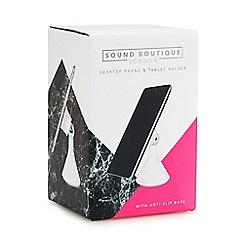 Sound Boutique - White desktop phone and tablet holder